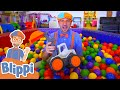 Learn Colors With Blippi At The Indoor Playground! | Educational Videos For Toddlers