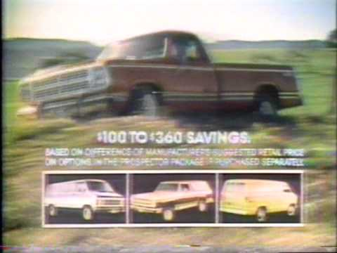 Dodge Prospector Trucks commercial 1979