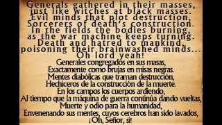 Repeat youtube video War Pigs - Black Sabbath  {English - Español  Lyrics}