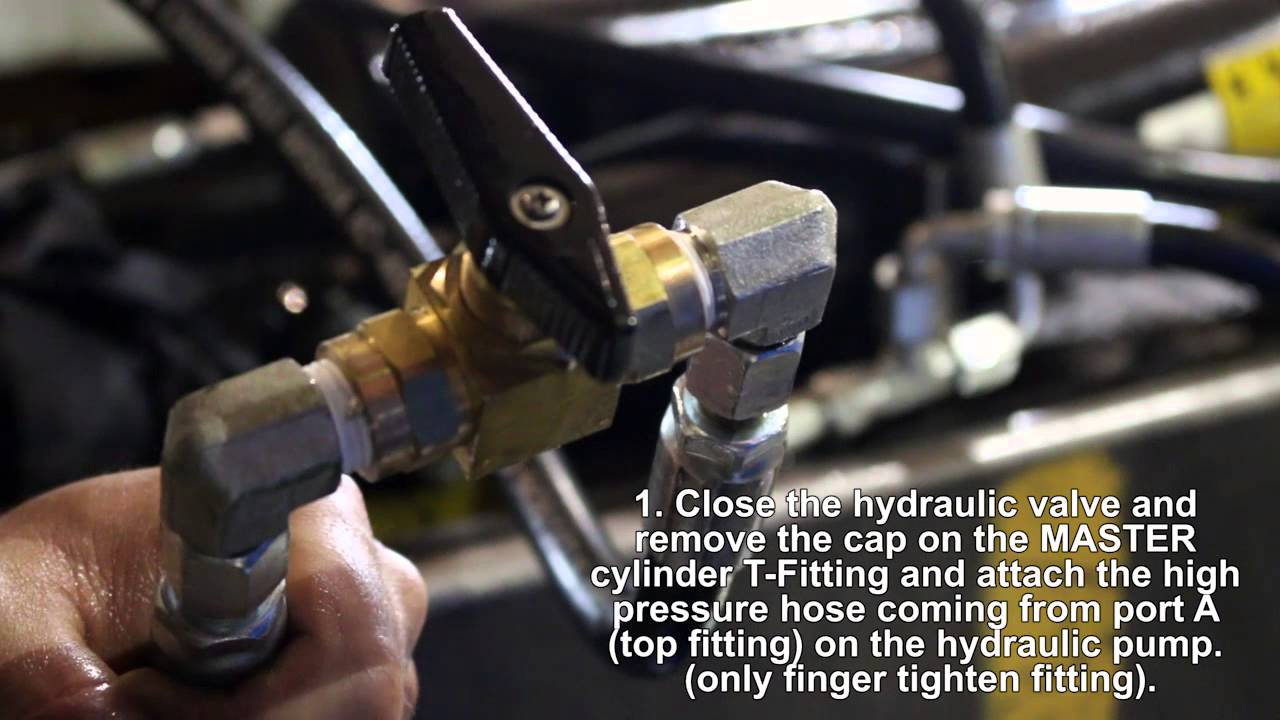 How To Bleed The Air Out Of Hydraulic System On A Load Trail Jcb 926 Fork Lift Wiring Schematic Gravity Tilt Deck Trailer