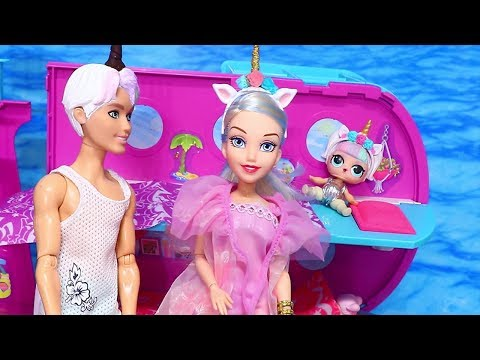 Barbie LOL Families ! The Unicorn Family Adventures | Toys and Dolls Pretend Play Fun | SWTAD Kids