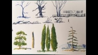 How to paint Trees &Things, Lesson 53.