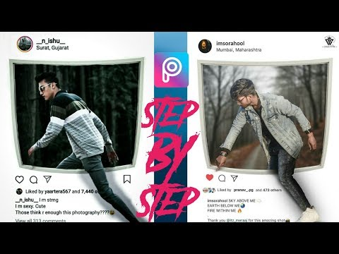 3d Instagram Viral Photo Editing Tutorial In PicsArt Step By Step In Hindi