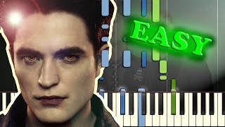 GREEN DAY - THE FORGOTTEN from TWILIGHT - Easy Piano Tutorial