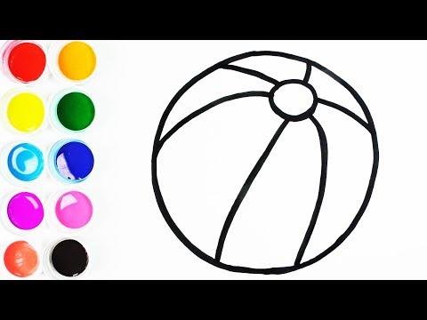 Cómo Dibujar y Colorear Una Pelota de Arco Iris - Dibujos Para Niños ...