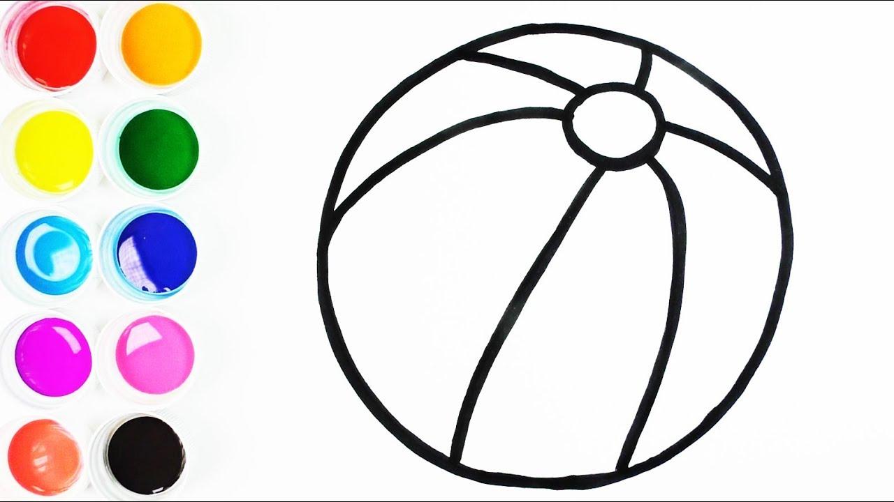 Cómo Dibujar Y Colorear Una Pelota De Arco Iris