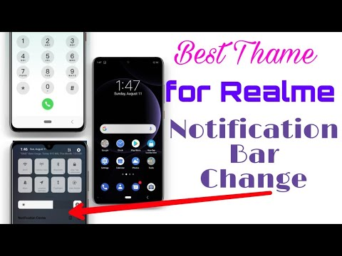 Stock Android Theme For Color Os 6 Whith Notification Bar Change By Hindi  Techy