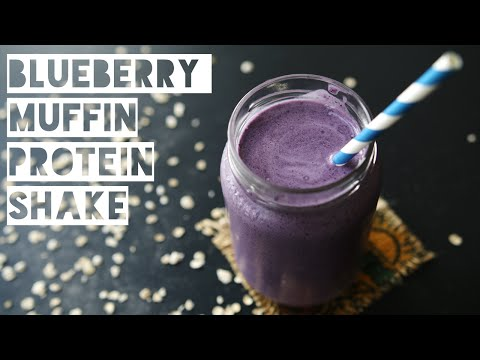 Healthy Blueberry Muffin Protein Shake Recipe | How To Make a Low Calorie Blueberry Muffins Smoothie