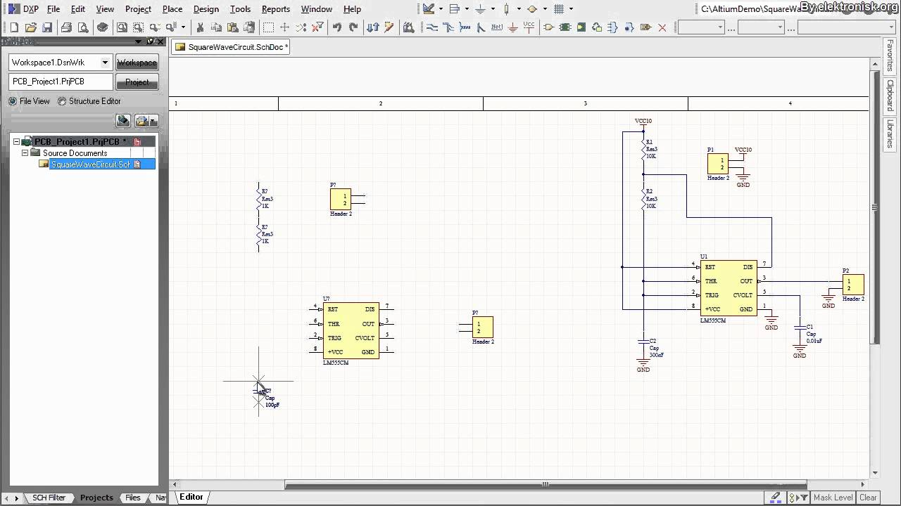 Altium Designer Tutorial Schematic Capture And Pcb Layout 1of2 The Circuit Was Designed To Create A Frequency Convert With Use Of Youtube