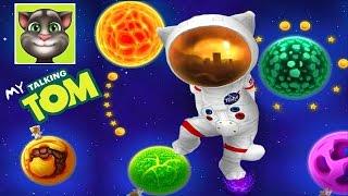 МОЙ ГОВОРЯЩИЙ ТОМ #28 🐱🐱🐱 - Том летает в космосе Виртуальный КОТ- развлекательное видео для детям