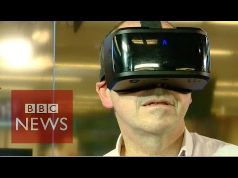 Hands-on with UK start-up's VR headset - BBC News