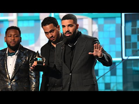 Drake Grammys gets cut off during speech