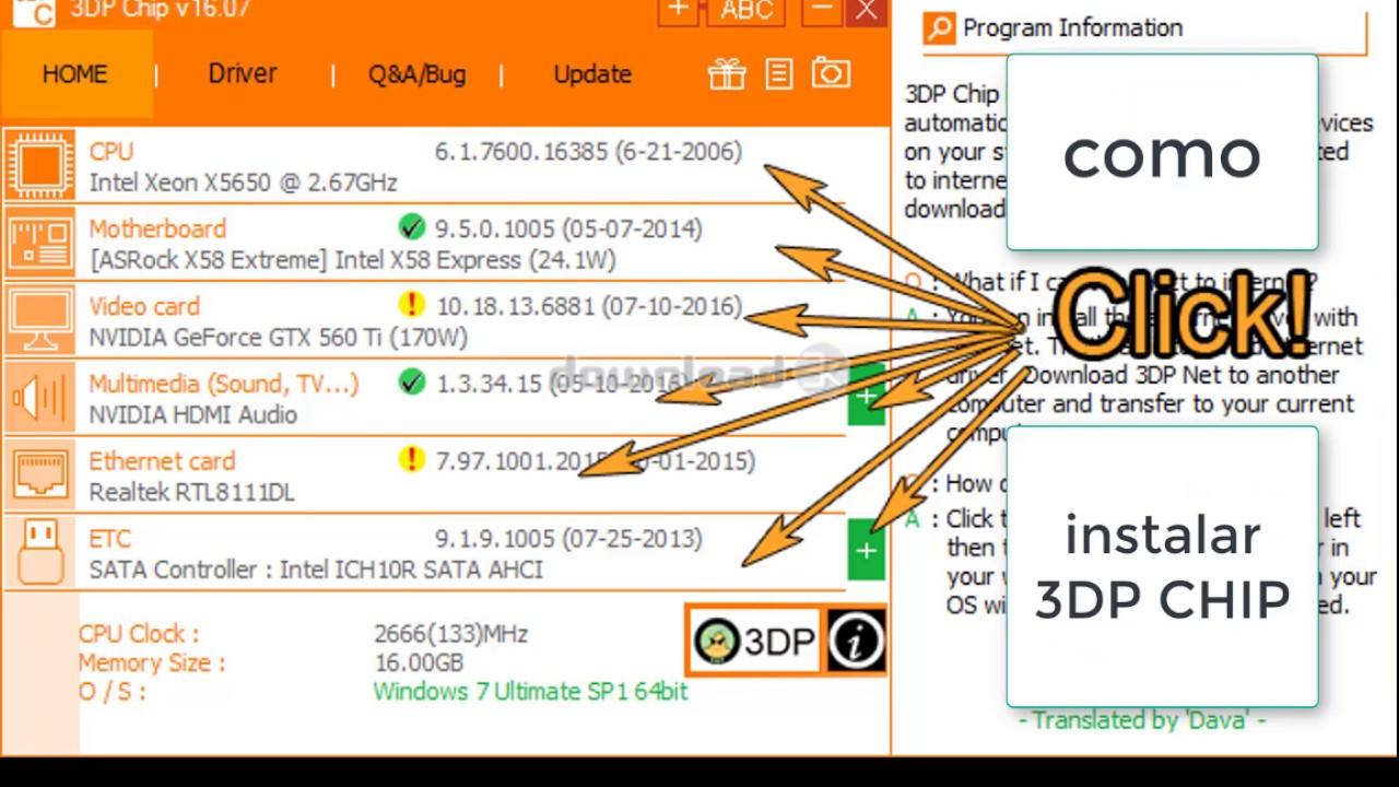 como instalar 3DP CHIP
