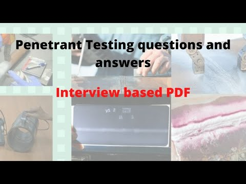 Penetrant Testing Interview Questions and Answers in Hindi part 1 CHETAN GURU