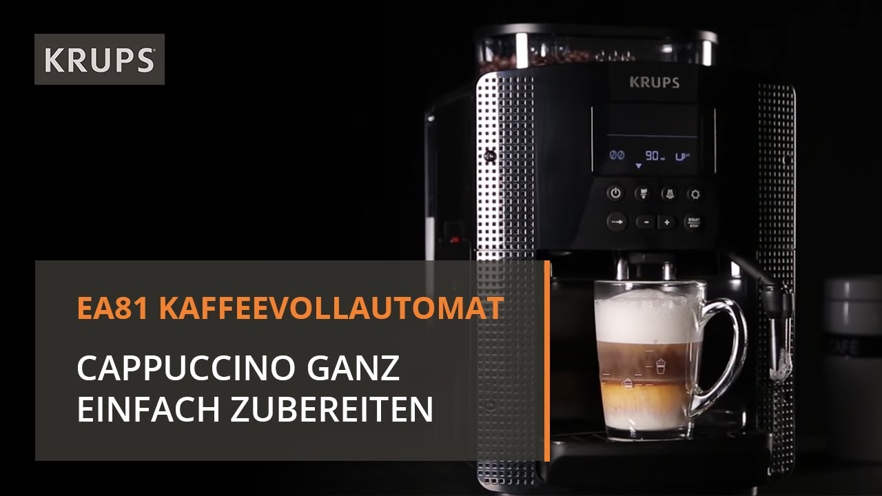 krups espresso kaffee vollautomaten cappuccino zubereitung youtube. Black Bedroom Furniture Sets. Home Design Ideas