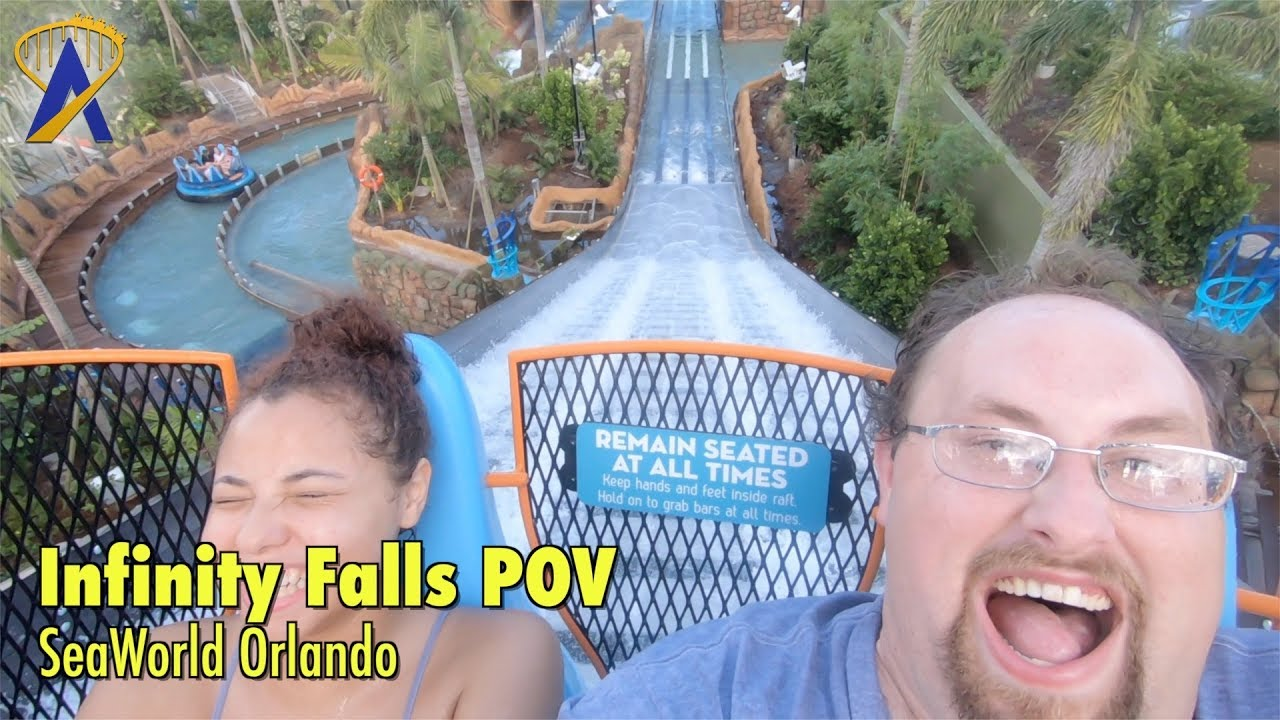 World's Tallest Drop - Infinity Falls 4K 60fps POV at SeaWorld Orlando