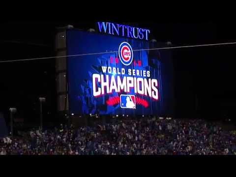 Chicago Cubs World Series Banner Raising Ceremony