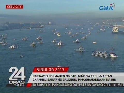 Pagtawid ng imahen ng Sto. Niño sa Cebu-Mactan Channel sakay ng galleon, pinaghahandaan na rin