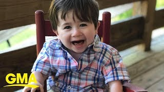 2-year-old has sweetest reaction to new walker built by Home Depot employees    GMA Digital