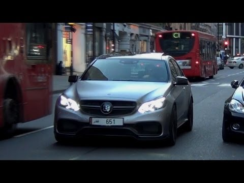First ARAB Brabus Mercedes E63 AMG - Accelerations In London