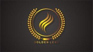 Golden Leaf Logo Design | CorelDraw Tutorial