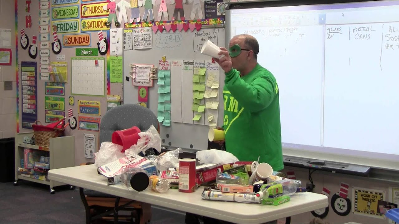 Recycle Man Suncrest Elementary Presentation March 1 2013 Youtube