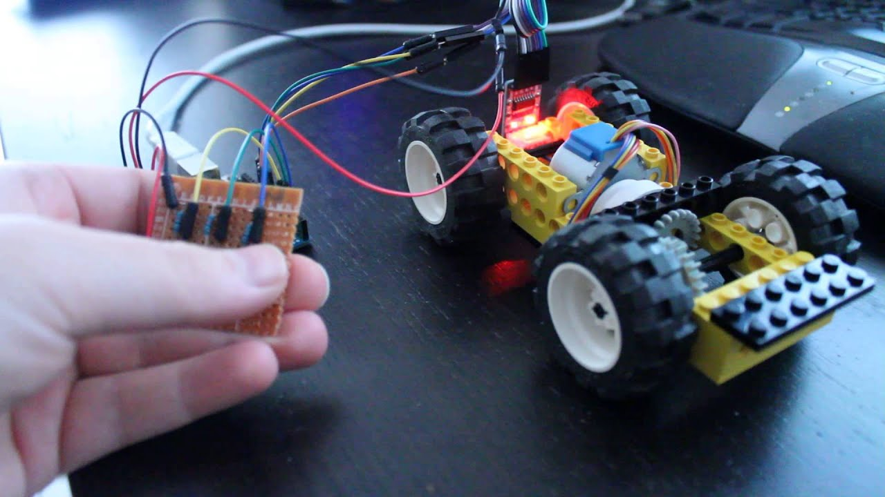 Stepper motor control with arduino uno on lego technics