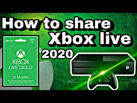 How To Share Xbox Live Gold on Xbox One in 2020 !!!!! ( New Updated Tutorial ) Super Fast and Easy !
