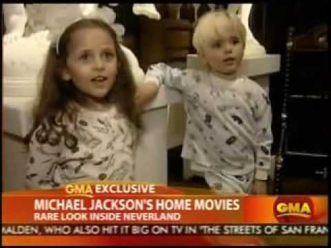 Michael Jackson Home Video - Playing & Singing With His Kids