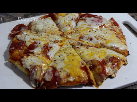 Homemade Pan Roasted Pepperoni Pizza from Scratch