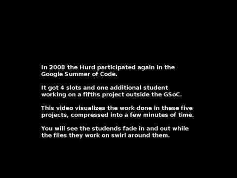 GNU/Hurd GSoC 2008 code_swarm