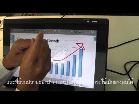 Wacom Interactive Pen Displays with OpenSankore (with Thai subtitles)