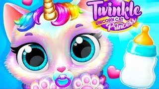 Twinkle Unicorn Cat Princess - New Born Baby Care, Dress Up Fun Care Games For Kids