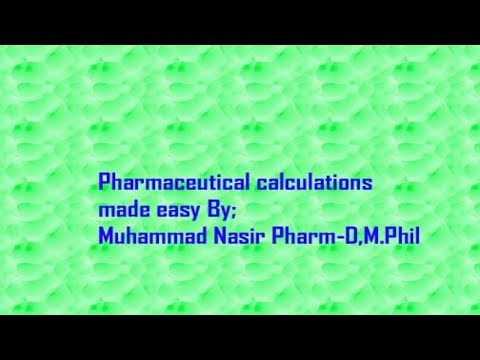 Pharmaceutical calculations 4a-Isotonicity| By Muhammad Nasir Pharmacist