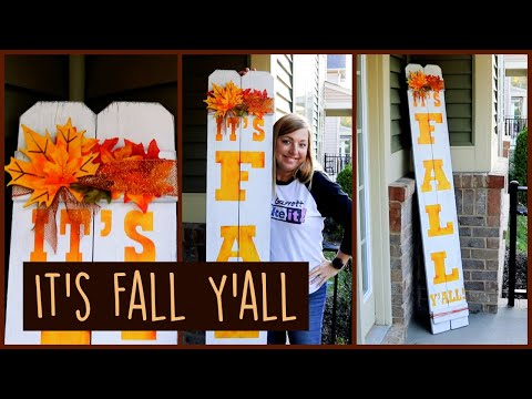 DIY Welcome Sign for Fall - Front Porch Decorating Ideas