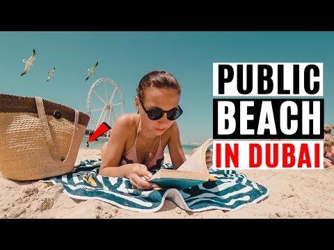 Public Beach in Dubai. Things to do at The Beach. JBR. Ain Dubai.
