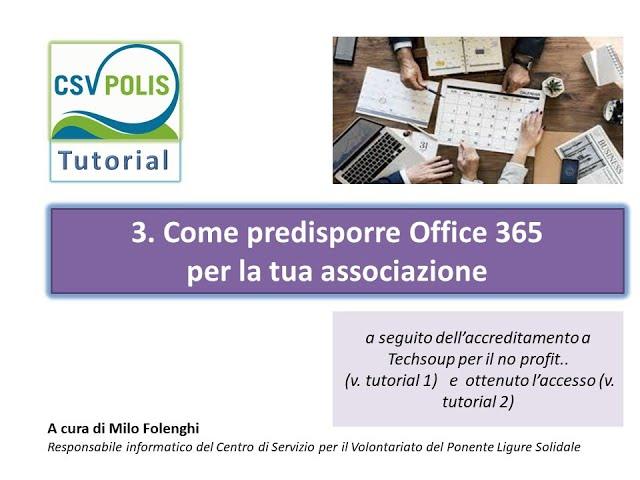 Come predisporre Office 365 per la tua associazione