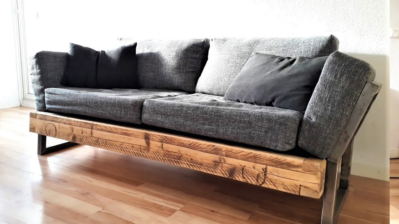 Diy Industrial Couch Youtube
