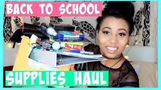 Back to School Supplies Haul 2016!