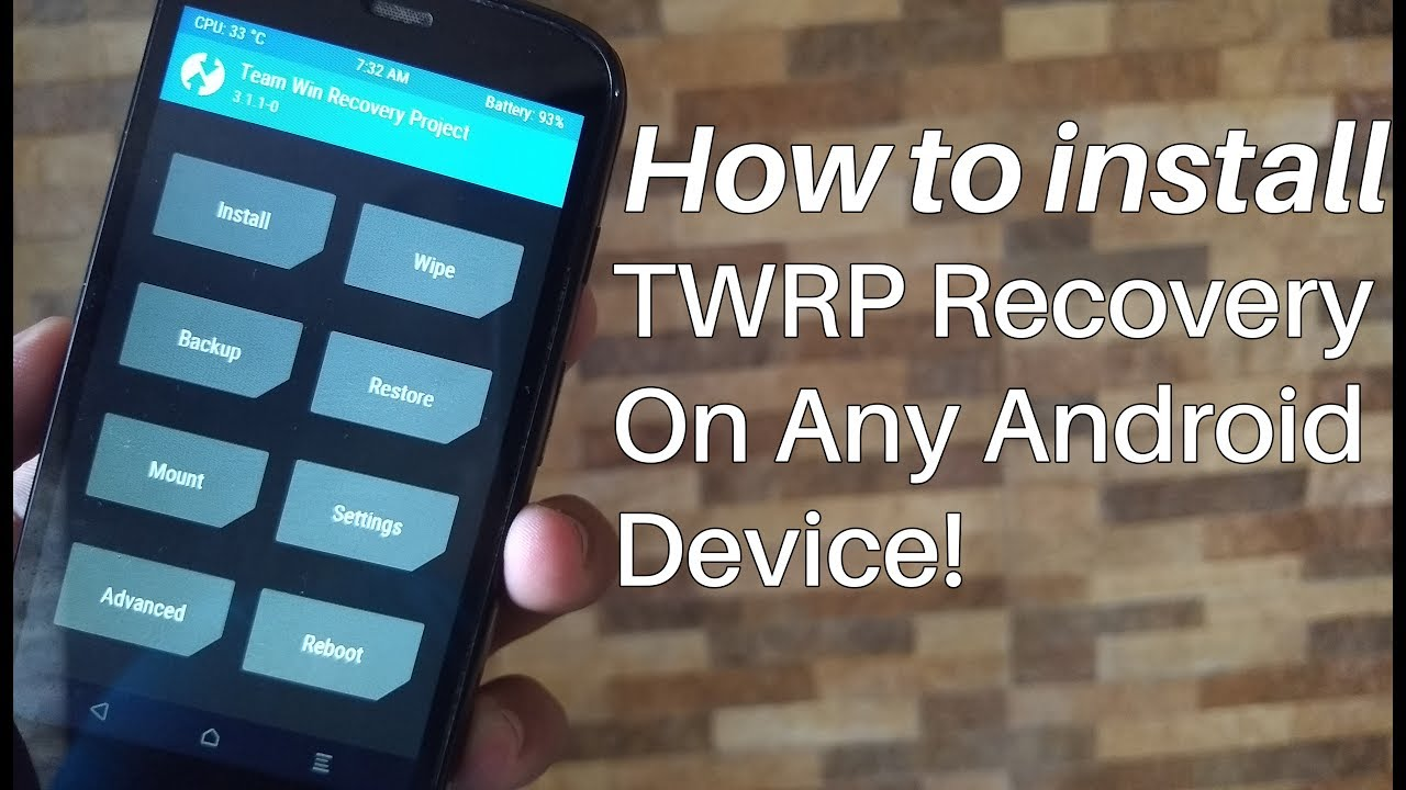 How To Install TWRP Recovery on Any Android Device (No PC) | 2017