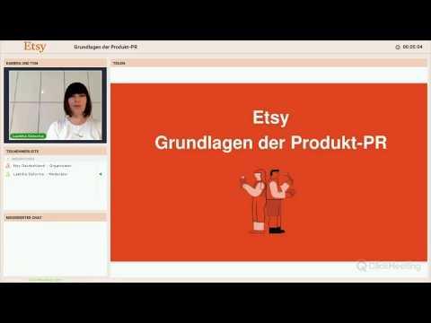 """Etsy Verkäufer Webinar """"Produkt PR"""""""