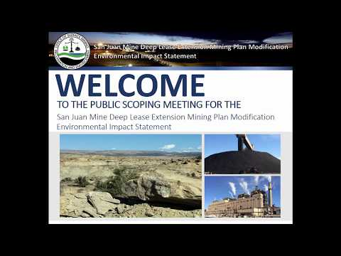 EIS Scoping for the San Juan Mine Deep Lease Extension Mining Plan Modification (English)