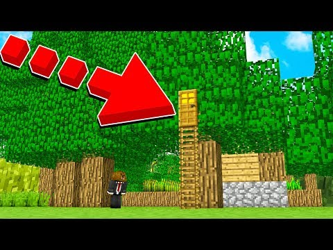 HOW TO LIVE INSIDE A TREE IN MINECRAFT!
