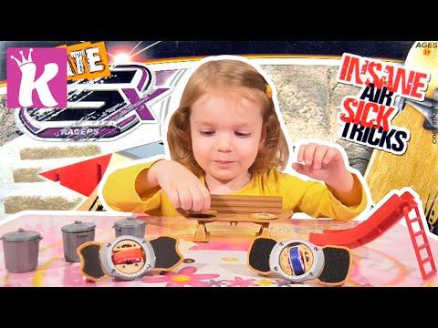 Фингерборд - Пальчиковый скейт распаковка GX Skate Racer Fingerboard Unboxing
