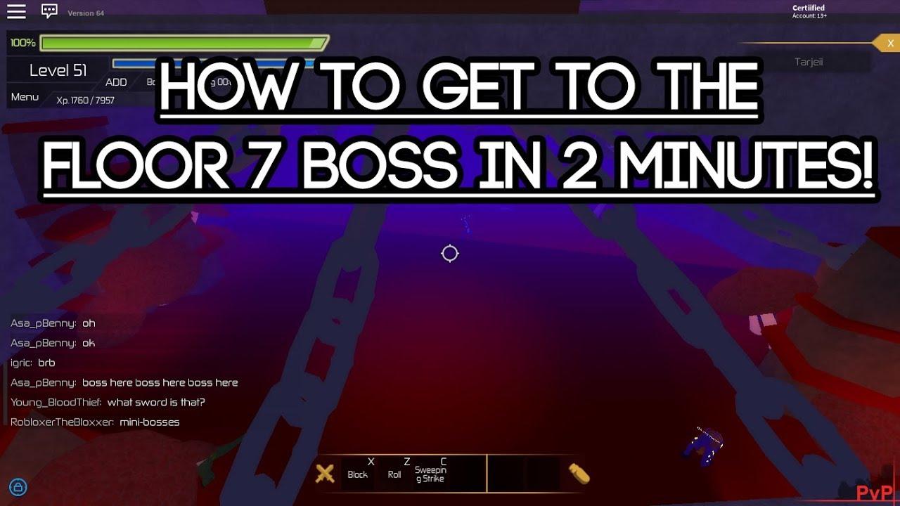 Roblox Swordburst 2] How to get to the Floor 7 Boss in 2 minutes