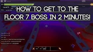 [Roblox Swordburst 2] How to get to the Floor 7 Boss in 2 minutes