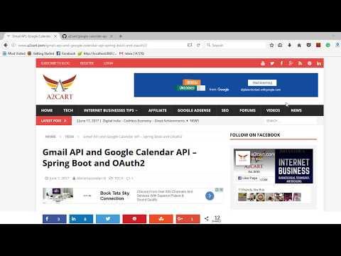 Gmail API, Google Calendar API, Spring Boot, Rest, OAuth2