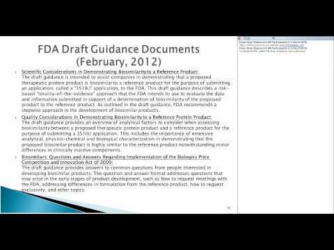 FDA Biosimilars Guidance - Frontage Webinar