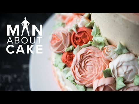 Fall Buttercream Flower Cake with SECRET PIPING RECIPE | Man About Cake with Joshua John Russell