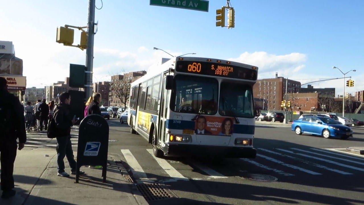 Mta Bus S Jamaica Bound Orion Vii 3749 Q60 At Queens Blvd Grand Av